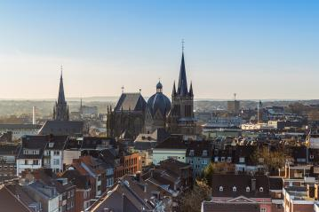 cathedral (Dom) of Aachen in the morning - Stock Photo or Stock Video of rcfotostock | RC-Photo-Stock