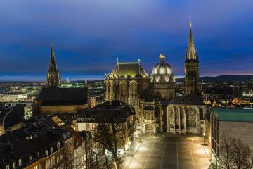 cathedral of Aachen at night- Stock Photo or Stock Video of rcfotostock | RC-Photo-Stock