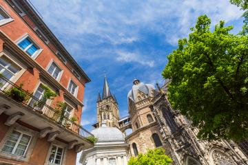 Cathedral of Aachen at the old town- Stock Photo or Stock Video of rcfotostock | RC-Photo-Stock