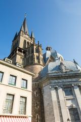 cathedral tower from the dom in aachen- Stock Photo or Stock Video of rcfotostock | RC-Photo-Stock