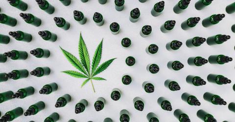 CBD, Cannabidiol oil bottles with a hemp leaf. Concept of herbal alternative medicine, cbd oil, pharmaceutical industry- Stock Photo or Stock Video of rcfotostock | RC-Photo-Stock