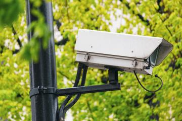 CCTV camera. Security camera in a park. Private property protection. : Stock Photo or Stock Video Download rcfotostock photos, images and assets rcfotostock | RC-Photo-Stock.: