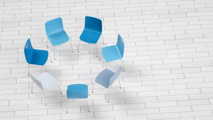 Chairs in a circle - 3D Rendering : Stock Photo or Stock Video Download rcfotostock photos, images and assets rcfotostock | RC-Photo-Stock.: