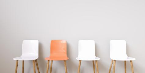 Chairs in modern design arranged in front of the wall for interior or graphic backgrounds : Stock Photo or Stock Video Download rcfotostock photos, images and assets rcfotostock | RC-Photo-Stock.: