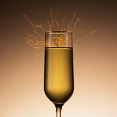 Champagen glass with sparkler- Stock Photo or Stock Video of rcfotostock | RC-Photo-Stock