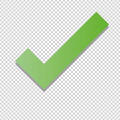 Check icon 3d, ok symbol in green color on the checked transparent background. Vector illustration. Eps 10 vector file.- Stock Photo or Stock Video of rcfotostock | RC-Photo-Stock