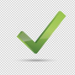 Check icon 3d, ok symbol in green color on the checked transparent background. Vector illustration. Eps 10 vector file. : Stock Photo or Stock Video Download rcfotostock photos, images and assets rcfotostock | RC-Photo-Stock.: