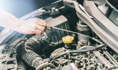 check the oil in modern car motor - Stock Photo or Stock Video of rcfotostock | RC-Photo-Stock
