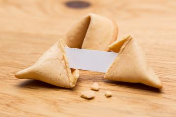 Chinese fortune cookie with note- Stock Photo or Stock Video of rcfotostock | RC-Photo-Stock