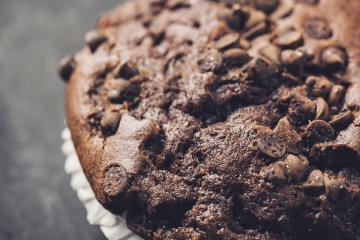 chocolate dark cooked muffin close-up- Stock Photo or Stock Video of rcfotostock | RC-Photo-Stock