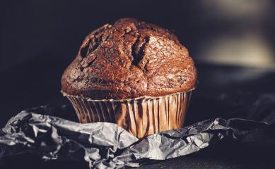 Chocolate muffin, homemade bakery on dark background- Stock Photo or Stock Video of rcfotostock | RC-Photo-Stock