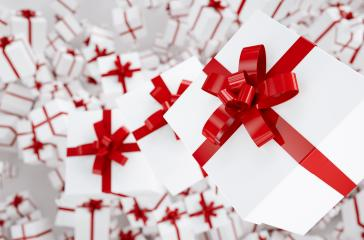 Christmas and New Year's Day red gift boxes - Stock Photo or Stock Video of rcfotostock | RC-Photo-Stock