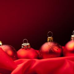 Christmas background. christmas balls with copyspace- Stock Photo or Stock Video of rcfotostock | RC-Photo-Stock