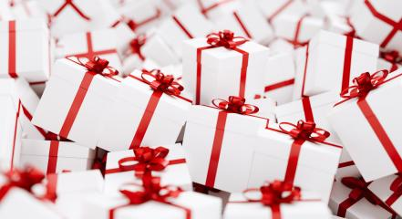 Christmas Gift boxes with red ribbons : Stock Photo or Stock Video Download rcfotostock photos, images and assets rcfotostock | RC-Photo-Stock.: