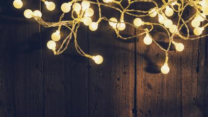 Christmas lights over wooden planks- Stock Photo or Stock Video of rcfotostock | RC-Photo-Stock