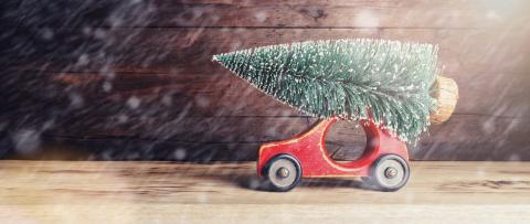 Christmas tree on old vintage toy car- Stock Photo or Stock Video of rcfotostock | RC-Photo-Stock