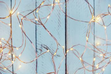 christmas xmas Copper Wire String Light background- Stock Photo or Stock Video of rcfotostock | RC-Photo-Stock