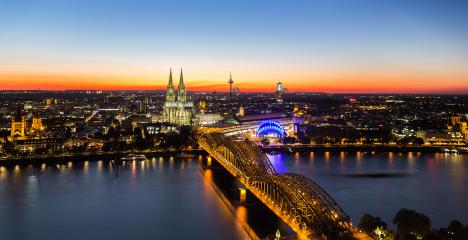 city of cologne at sunset- Stock Photo or Stock Video of rcfotostock | RC-Photo-Stock