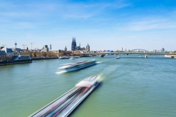 city of cologne at the rhine river- Stock Photo or Stock Video of rcfotostock | RC-Photo-Stock