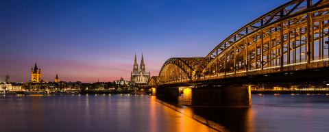 city of cologne with cathedral at sunset- Stock Photo or Stock Video of rcfotostock | RC-Photo-Stock