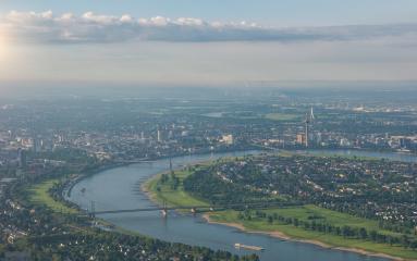 City of Düsseldorf Aerial view- Stock Photo or Stock Video of rcfotostock | RC-Photo-Stock