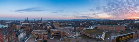 city skyline of Aachen at sunset panorama- Stock Photo or Stock Video of rcfotostock | RC-Photo-Stock