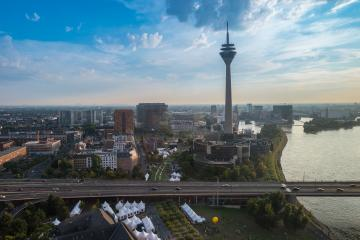 Cityscape of Dusseldorf at the morning - Stock Photo or Stock Video of rcfotostock | RC-Photo-Stock