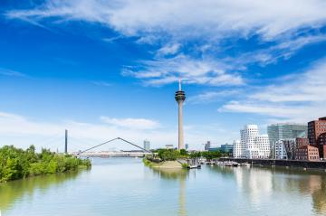 Cityscape of Dusseldorf in a sunny summer day- Stock Photo or Stock Video of rcfotostock | RC-Photo-Stock