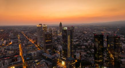 Cityscape of Frankfurt, at sunset germany- Stock Photo or Stock Video of rcfotostock | RC-Photo-Stock