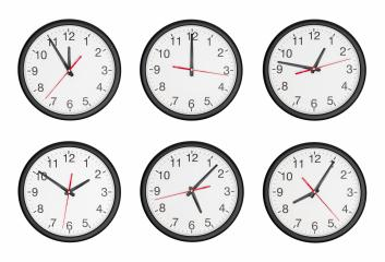 classic black and white round wall clock set collage- Stock Photo or Stock Video of rcfotostock | RC-Photo-Stock