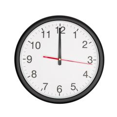 classic black round wall clock shows midnight- Stock Photo or Stock Video of rcfotostock | RC-Photo-Stock
