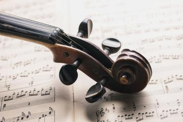 Classical violin head on notes- Stock Photo or Stock Video of rcfotostock | RC-Photo-Stock