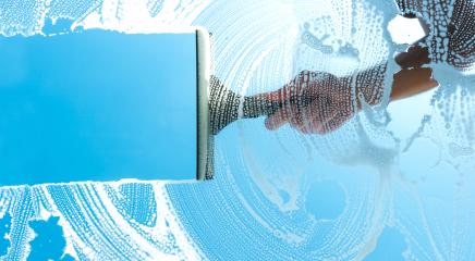 cleaning window with squeegee blue sky : Stock Photo or Stock Video Download rcfotostock photos, images and assets rcfotostock | RC-Photo-Stock.: