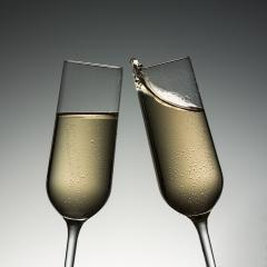 clink glasses with champagne splash- Stock Photo or Stock Video of rcfotostock | RC-Photo-Stock