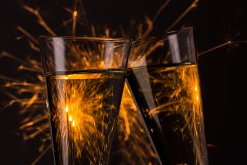clink glasses with fireworks background on new year's eve : Stock Photo or Stock Video Download rcfotostock photos, images and assets rcfotostock | RC-Photo-Stock.: