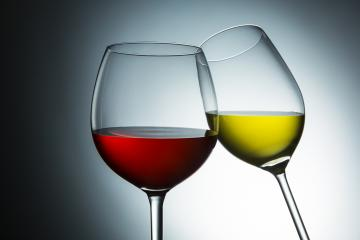 clink white and redwine glasses- Stock Photo or Stock Video of rcfotostock | RC-Photo-Stock