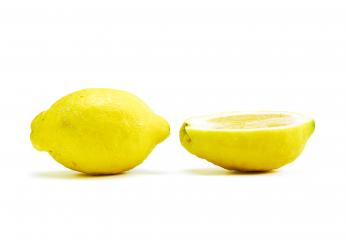 Close up of raw big Lemon on white- Stock Photo or Stock Video of rcfotostock | RC-Photo-Stock