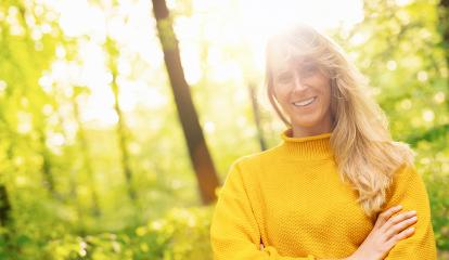 Close up portrait of beautiful woman with long blond on a sunny day in the Nature, with copy space for individual text- Stock Photo or Stock Video of rcfotostock | RC-Photo-Stock