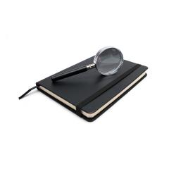 closed black notebook with magnifying glass on white : Stock Photo or Stock Video Download rcfotostock photos, images and assets rcfotostock | RC-Photo-Stock.: