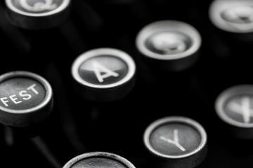 closeup from typewriter keys- Stock Photo or Stock Video of rcfotostock | RC-Photo-Stock