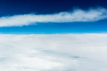 Clouds and blue sky at the stratosphere - Stock Photo or Stock Video of rcfotostock | RC-Photo-Stock