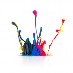 CMYK colors paint splashing - Stock Photo or Stock Video of rcfotostock | RC-Photo-Stock
