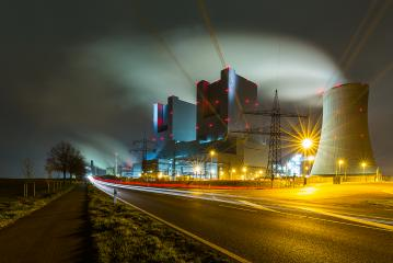 coal power station at night with lighttrails  : Stock Photo or Stock Video Download rcfotostock photos, images and assets rcfotostock | RC-Photo-Stock.: