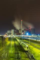 coal power station with freight depot at night : Stock Photo or Stock Video Download rcfotostock photos, images and assets rcfotostock | RC-Photo-Stock.: