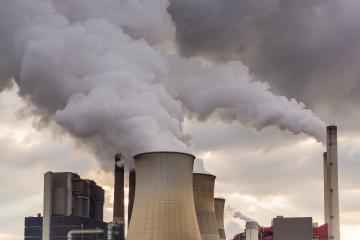 Coal-fired power plant nature pollution- Stock Photo or Stock Video of rcfotostock | RC-Photo-Stock