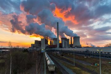Coal-fired power plant with burning sunset sky : Stock Photo or Stock Video Download rcfotostock photos, images and assets rcfotostock | RC-Photo-Stock.: