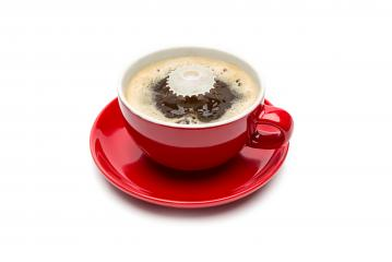 Coffee and Milk drop on white- Stock Photo or Stock Video of rcfotostock | RC-Photo-Stock