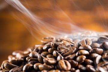 coffee beans fresh roast with smoke : Stock Photo or Stock Video Download rcfotostock photos, images and assets rcfotostock | RC-Photo-Stock.: