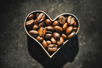 Coffee beans in a heart form- Stock Photo or Stock Video of rcfotostock | RC-Photo-Stock
