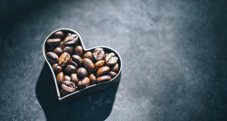 Coffee beans in the form of heart- Stock Photo or Stock Video of rcfotostock | RC-Photo-Stock